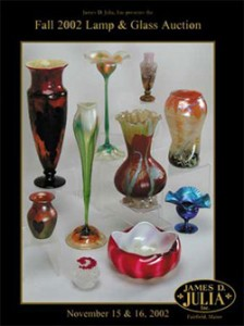 James D. Julia November, 2002 catalog cover.  (The vase is the one on the right, above the blue Tiffany compote.)