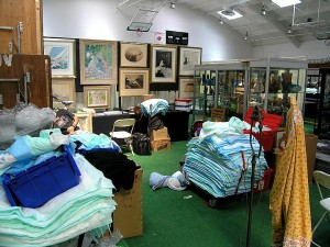 Redondo Beach Antique Show set-up