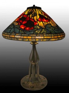 Tiffany Poppy table lamp (better than the one mentioned in the story)