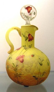 Fine Daum Nancy ewer with poppies