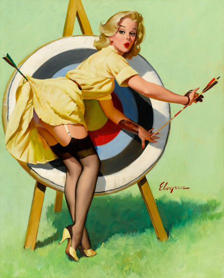 Gil Elvgren was one collectors' favorite artists