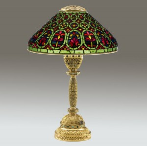 Tiffany Studios Venetian table lamp, lot 409, June, 2009