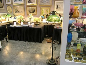 My booth with a great new Tiffany floor lamp addition