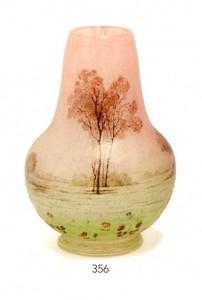 Daum Prairie vase, lot 356