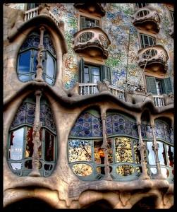 Casa Batlló, a Gaudi building in Barcelona