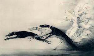Icart etching 'Speed II', 1933