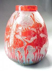 Le Verre Francais Poissons vase