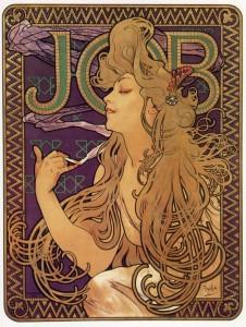 "Alphonse Mucha poster ""Job"""