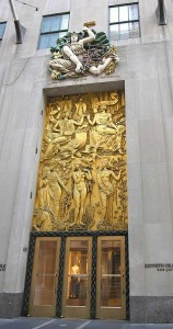 An entrance to Rockefeller Center in New York City by Alfred Auguste Janniot