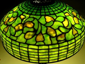 """Tiffany Studios 18"""" diam. Whirling Leaf shade, very similar to lot #285"""
