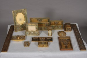 Tiffany Studios Abalone desk set,  lot #258
