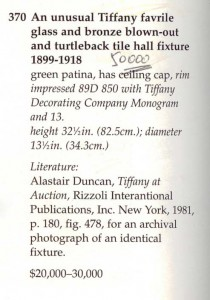 The Sotheby's catalog description for lot 370, with my hand-written final price