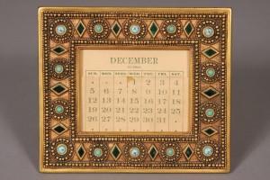 Tiffany Studios Byzantine calendar frame, lot #257