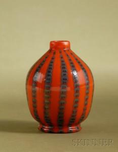A rare Tiffany Favrile orange vase, Skinner lot #583