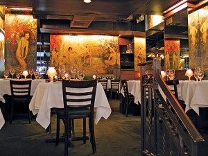 Cafe des Artistes, showing several Howard Chandler Christy paintings