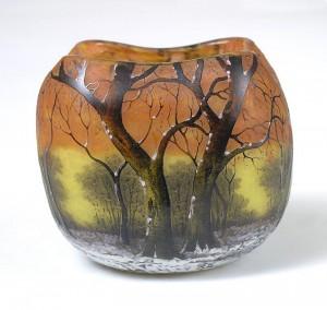 Daum winter scenic bowl