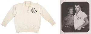 A cotton shirt monogrammed 'E.P.', Hindman lot #31
