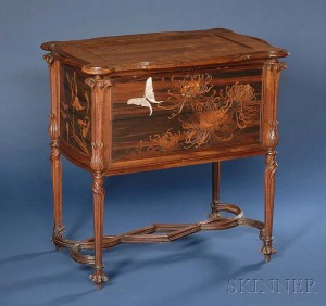 Gallé side table, Skinner lot #306