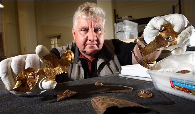 Terry Herbert with some of his discovery