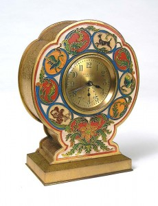 Tiffany Studios clock with signs of the Zodiac