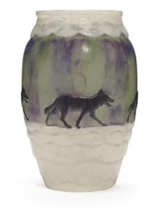Argy-Rousseau pâte-de-verre wolf vase
