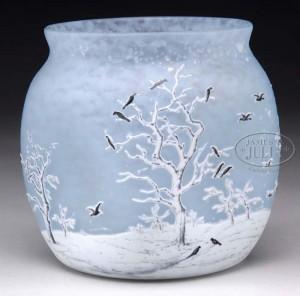 Daum blackbird vase, Julia's lot #2250, November 20, 2009