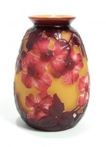 Gallé blownout clematis vase