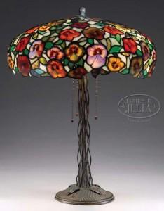 Morgan pansy lamp, Julia's lot #2373, November 20, 2009