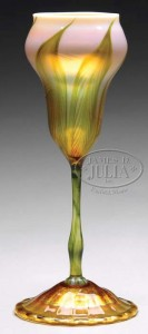 Tiffany Studios flower form vase, Julia's lot #2091