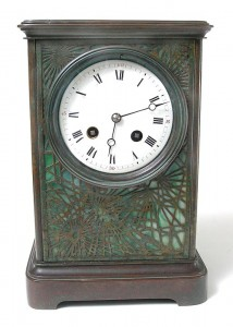 Tiffany Studios Pine Needle clock