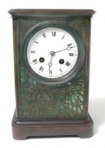 Tiffany Studios Pine Needle clock