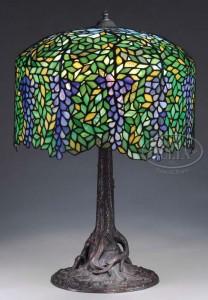 Unique wisteria table lamp, Julia's lot #2353, November 20, 2009