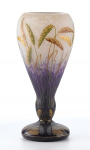 Daum Nancy wheat vase, Heritage lot #75144