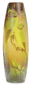 Gallé parrot vase, Christie's lot #188, December 8, 2009