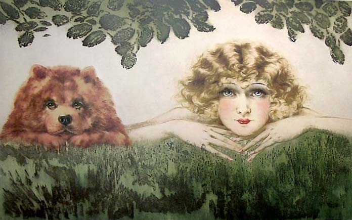 Louis Icart etching 'Two Beauties'
