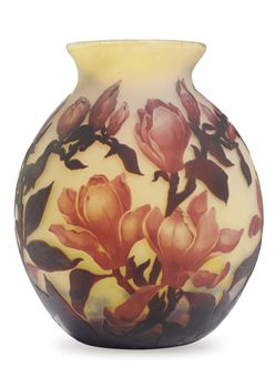 Muller magnolia vase, Christie's lot #186, December 8, 2009