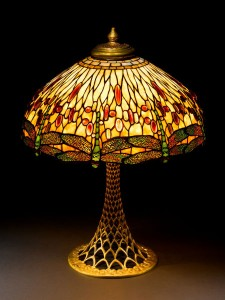 Tiffany Studios 22 inch Dragonfly table lamp, Heritage lot #74064