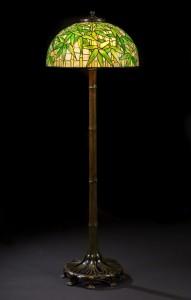 Tiffany Studios bamboo floor lamp, Heritage lot #74057