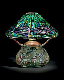 Tiffany Studios Dragonfly table lamp, Christie's lot #17, December 8, 2009