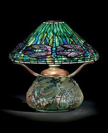 Tiffany Studios Dragonfly table lamp, Christie's lot #17, December 8, 2009