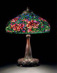 Tiffany Studios Elaborate Peony table lamp, Christie's lot #11, December 8, 2009
