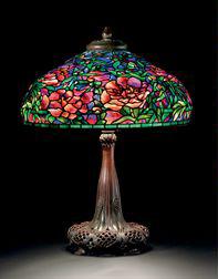 Tiffany Studios Elaborate Peony table lamp, Christie's lot #11, December 8, 2009