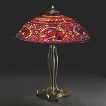 Tiffany Studios Salamander lamp, Sotheby's lot #428