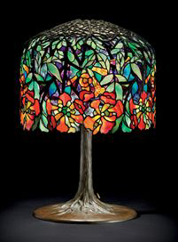 Tiffany Studios Trumpet Creeper table lamp, Christie's lot #35, December 8, 2009