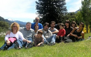 That's us, with family, in the mountains of Villa La Angostura, Argentina