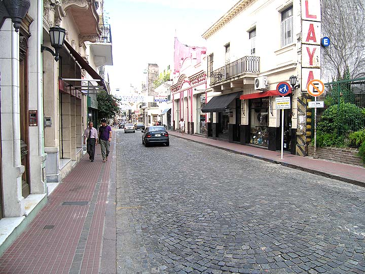 Defensa Street, the main antiques street of San Telmo, Buenos Aires