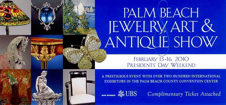 The Palm Beach Jewelry, Art & Antique Show, February 13-16, 2010