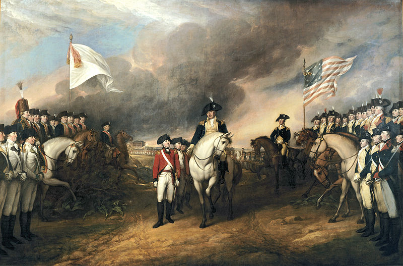 John Trumbull painting of the surrender of General Lord Cornwallis to General George Washington