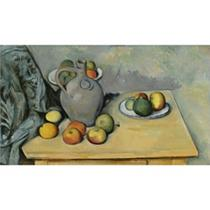 Pitcher and Fruit on a Table by Paul Cézanne, Sotheby's London lot #5, February 3, 2010
