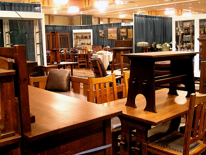 Some of the wonderful Arts & Crafts furniture at the show
